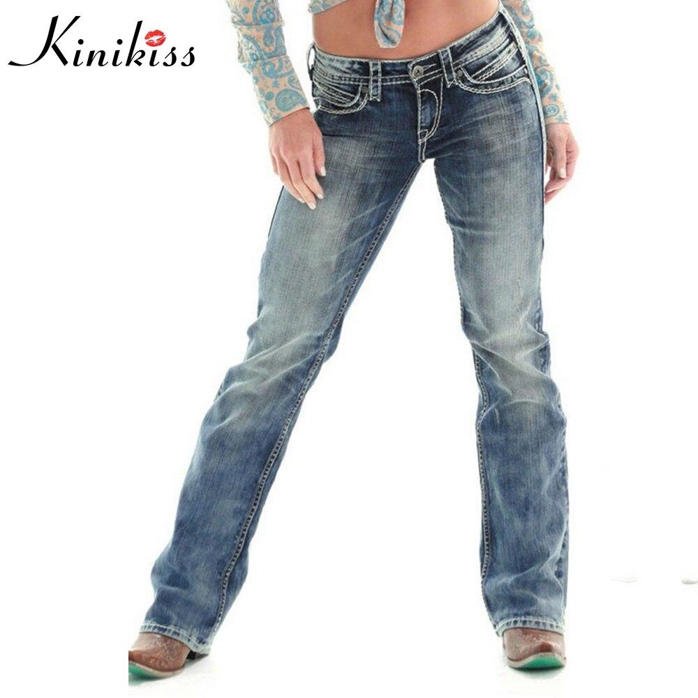 Kinikiss Women Jeans Light Blue Sexy Slim Straight Fashion Loose Jeans Worn High Street Mid Waist Women Summer Fashion Jeans