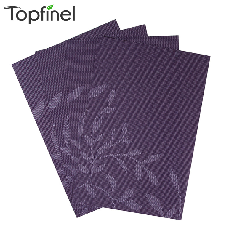 Buy top finel set of 4 pvc flower pattern for Table placemats