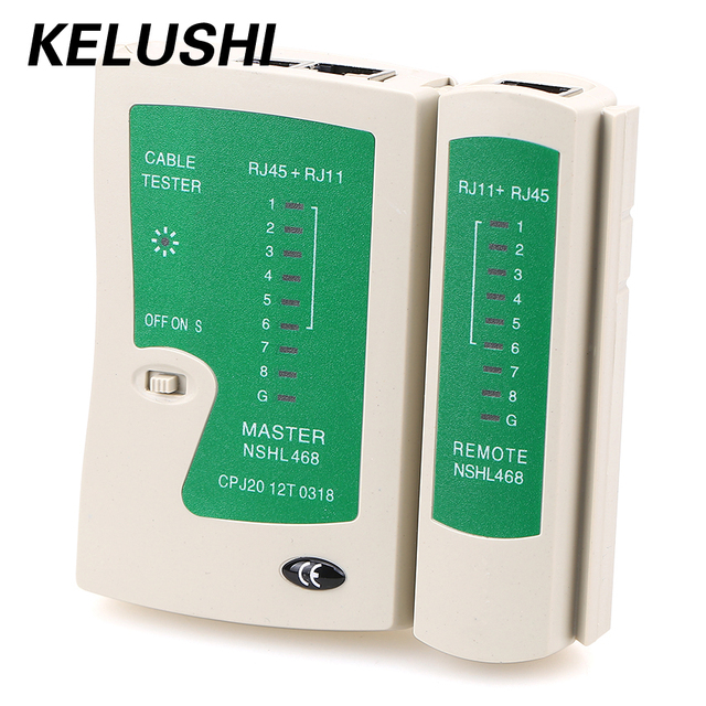 KELUSHI Free Shipping NSHL468 RJ11 RJ45 Network Cable Tester Telephone Lines Multifunctional with High Quality