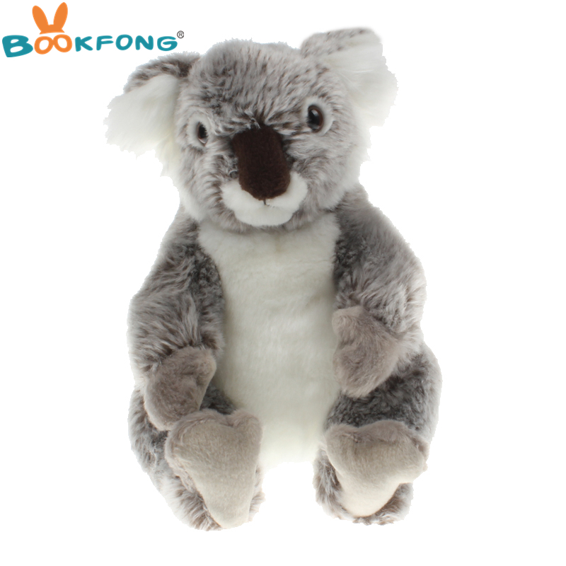 BOOKFONG 22CM Kawaii Simulation Koala Bear Plush Stuffed Doll Soft Adventure Animal Koala Toy Birthday Gift for Children Kids fancytrader new pop animal koala plush toy big stuffed plush koala doll 50cm best gift for children