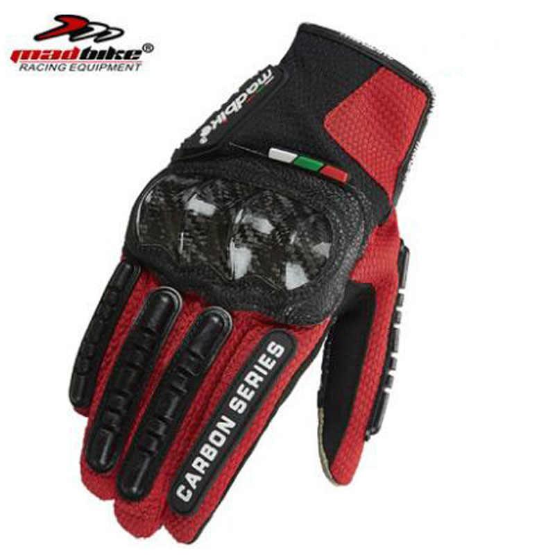 2018 nouveau été respirant en Fiber de carbone Anti-chute gants de moto de fond peut écran tactile chevalier course équitation gant