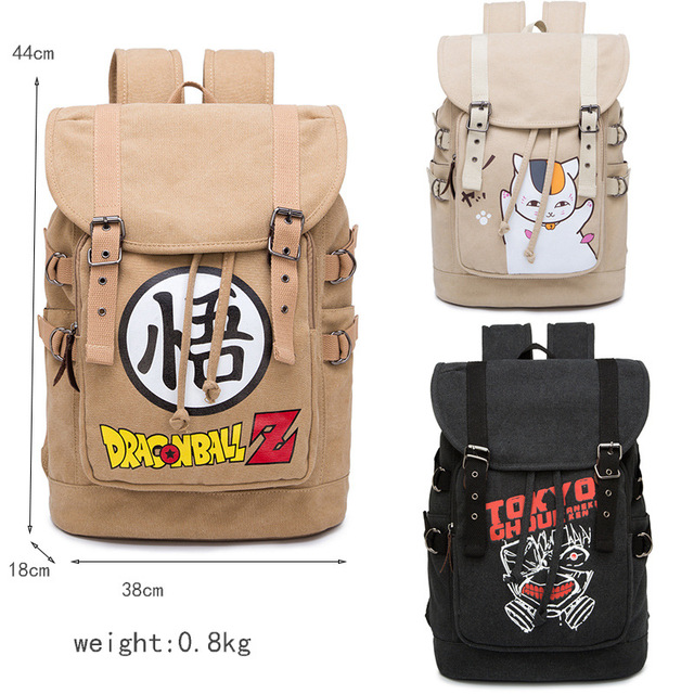 New Arrival Anime Naruto Dragon Ball Tokyo Ghoul High Quality Schoolbag Gift For Students Kids Children