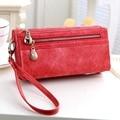 New vintage design women wallet long high quality female clutch zipper wallets big capacity purse cellphone bag pocket