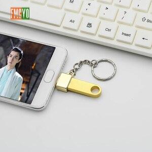 Image 5 - Otg Android Micro teléfono móvil tableta U disco conexión Usb tarjeta lector luz colgante cadena adaptador