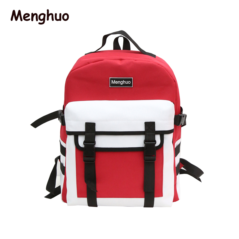 Fashion Black Teenager Girls Backpack Canvas Men School Backpacks Bags For  Women Casual Large Capacity Korean Bag Mochilas