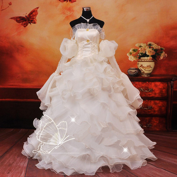 Anime Code Geass Euphemia cosplay Costume Carnival Halloween Costumes for women evening party white wedding dresses