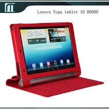Case smart cover funda de cuero de la pu con el soporte para lenovo yoga tablet 10 B8000 10 pulgadas Tablet PC de Alta Calidad Ajuste Perfecto