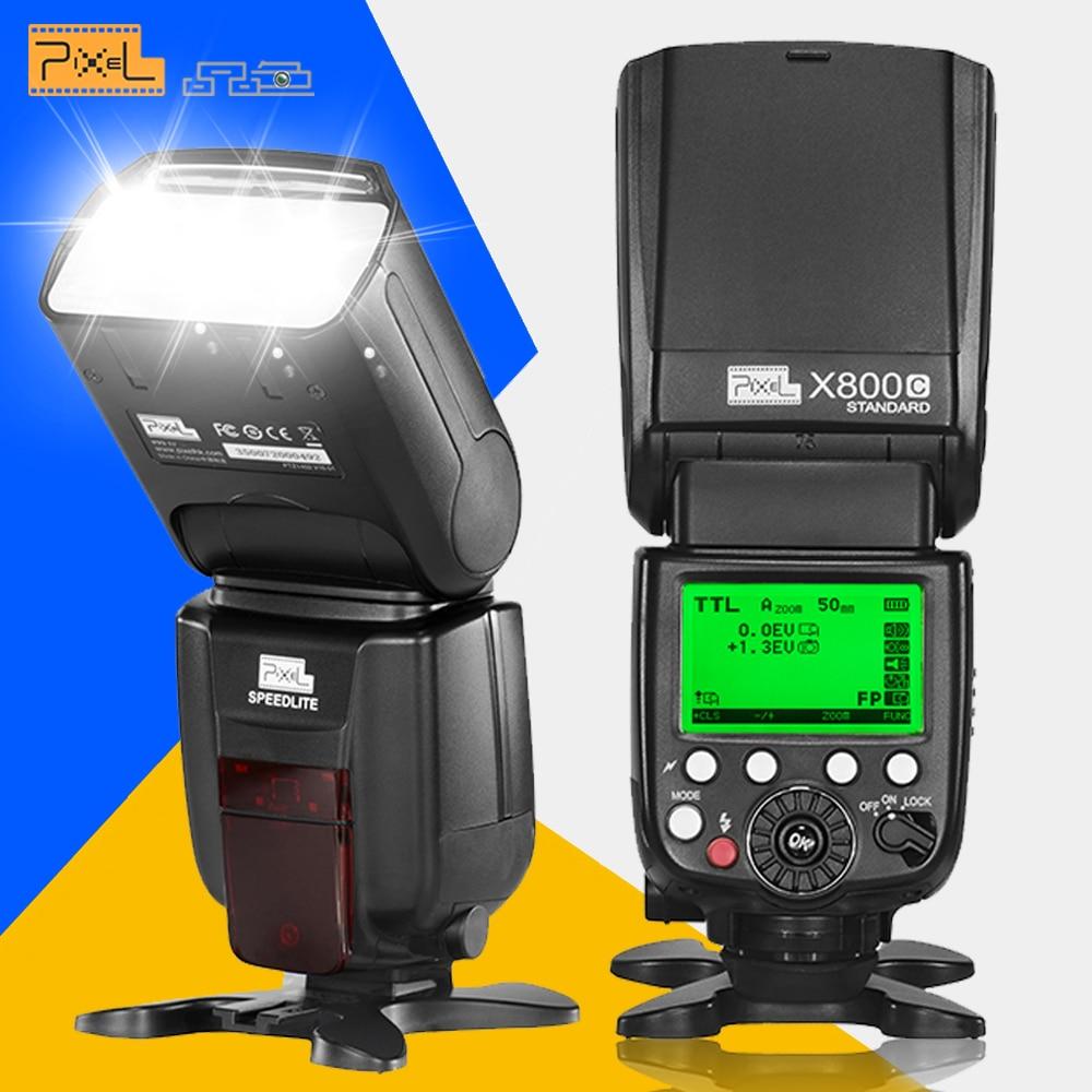 Pixel X800C Standard Master/ Slave, S1/S2 Wireless TTL HSS 1/8000S Flash Speedlite High Speed Speedlight  For Canon DSLR Cameras genuine meike mk950 flash speedlite speedlight w 2 0 lcd display for canon dslr 4xaa