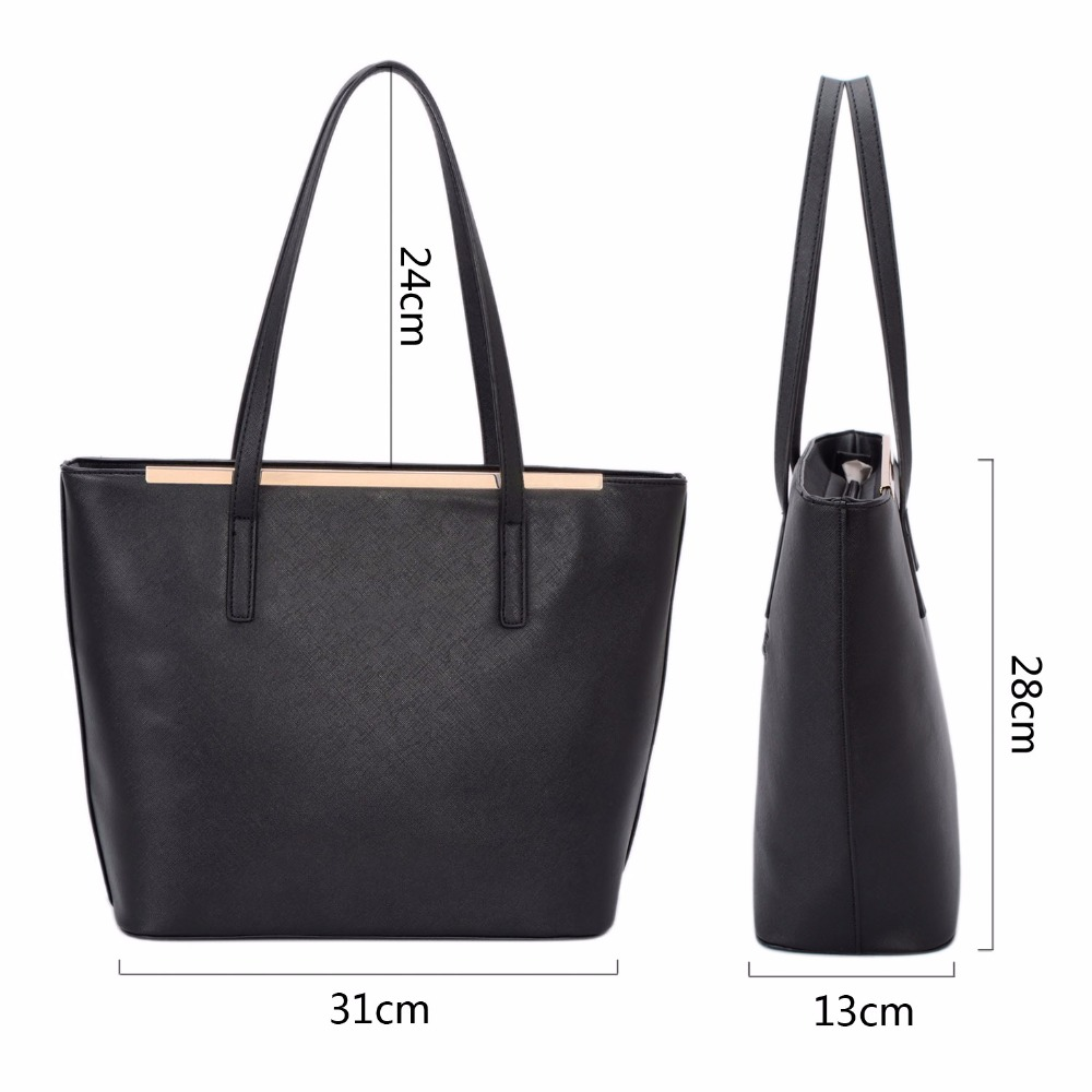 c1c2a2e1975 DAVIDJONES women handbag faux leather female shoulder bags large lady solid tote  bag girl brand shopping bag drop shipping-in Shoulder Bags from Luggage ...