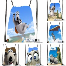 Custom Animated Shorts Bernard Polar Drawstring Backpack Bag Cute Daypack Kids Satchel (Black Back) 31x40cm#180531-02-29