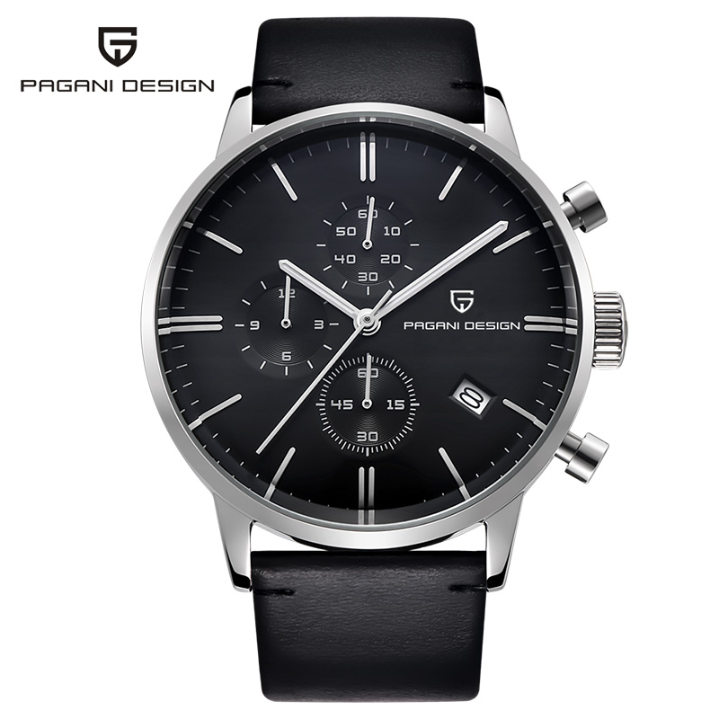 Watches Male PAGANI Luxury Brand Men's Sports Quartz Military Unique Function Wrist Watch Men Leather Clock relogio masculino luxury brand pagani design waterproof quartz watch army military leather watch clock sports men s watches relogios masculino