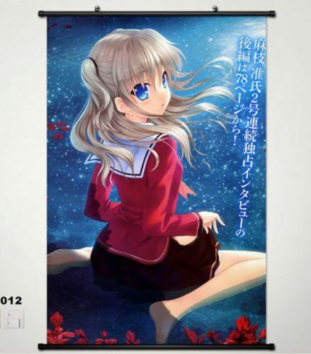 Anime Batch Charlotte: Home Decor Japanese Wall Poster Scroll Charlotte Anime