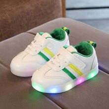 c6c69dd78 Los nuevos niños luminosa las niñas niños Zapatos de deporte zapatos de  bebé luces zapatillas de
