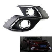 2pcs Daytime Running Light DRL White LED Driving Fog Lamp Fit For 2014 Mazda 3 AXELA
