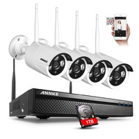 ANNKE 960P 4CH Network NVR 2500TVL Wireless Home Security IP Camera System 1TB
