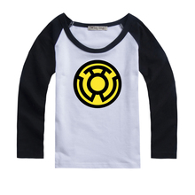 Yellow Lantern Sinestro Corps Design Printed Kids T-Shirt Girls Boys Gift TopsSleeve Spring autumn winter clothes