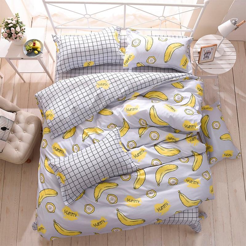 Bed-Set Duvet-Cover Flat-Sheet King Bedclothes-3 Single Pillowcase Queen Home Or 4pcs