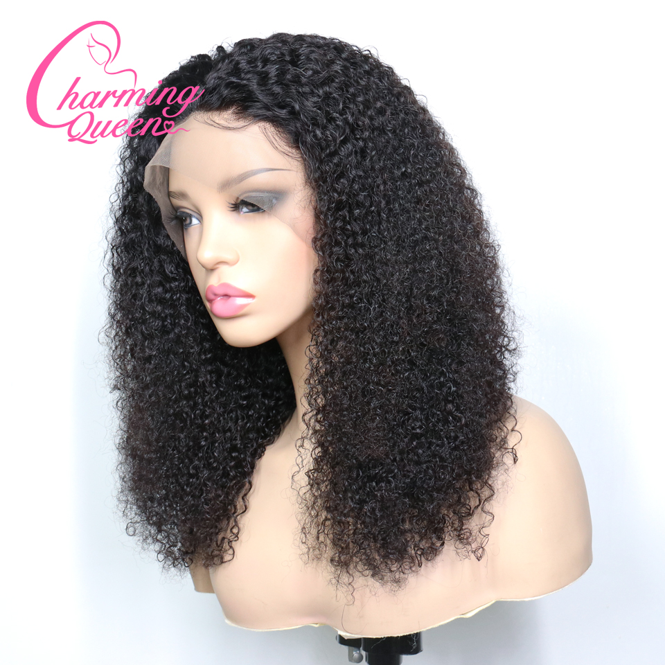 Lace Front Human Hair Wigs For Black Women Afro Kinky Curly Wig Brazilian Remy Hair Bleached