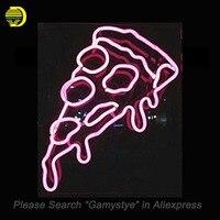 Pizza Dilim Neon Burcu El Işi Gıda Kurulu Neon Ampuller Sanat Cam Tüp Ikonik Süslemeleri lite bira işık Sign işaretleri ışıklı