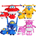 7cm Mini - 8 Colors - Super Wings 100% Original Planes Deformation Airplane Robot Action Figures Transformation Toys for Boys