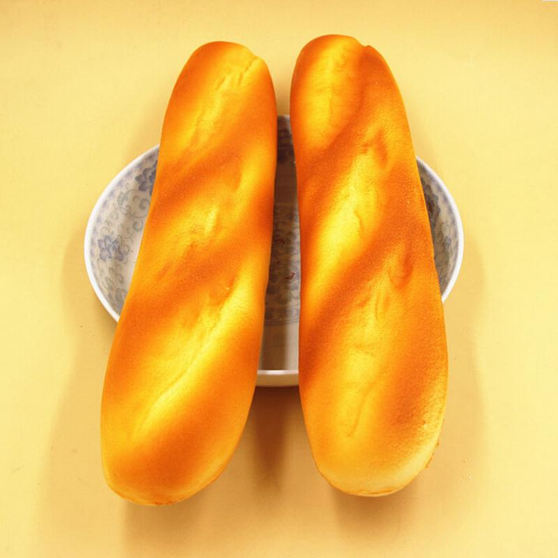 1PC French Baguettes Kawaii Squishy Rising Jumbo Phone Straps Cute Squeeze Stress Kids Gift Pillow Loaf Cake Bread Toy