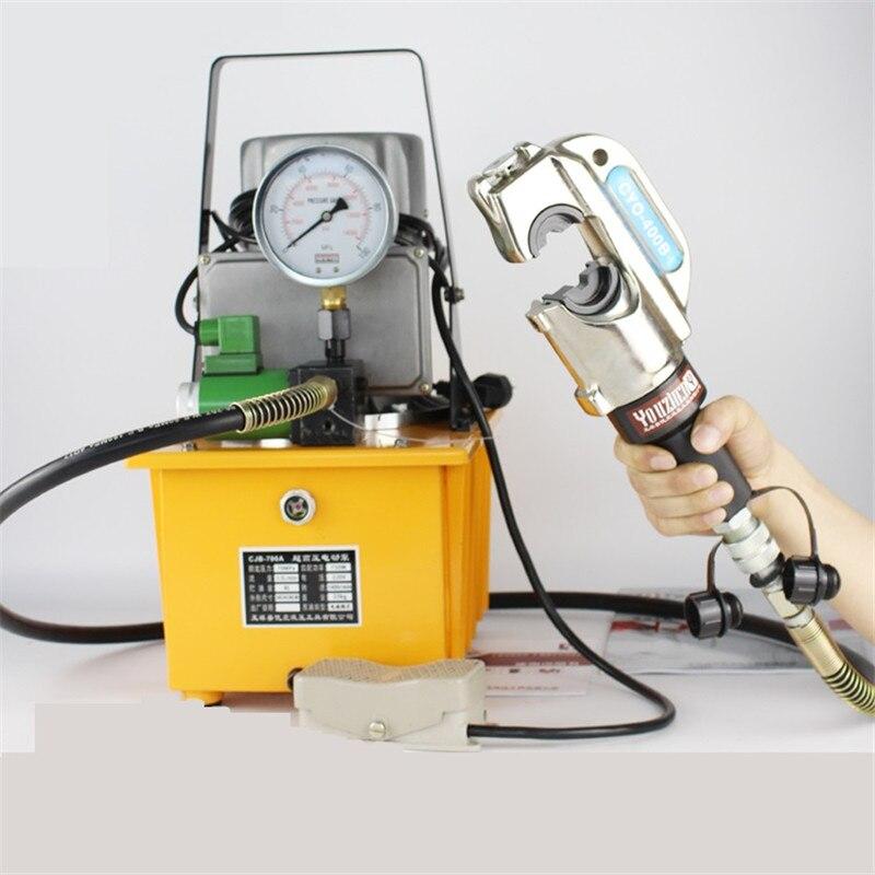Гидравлический обжимной инструмент CYO 400B Медь для обжима кабеля инструменты с 9 шт. формы + электромагнитный клапан электрический насос