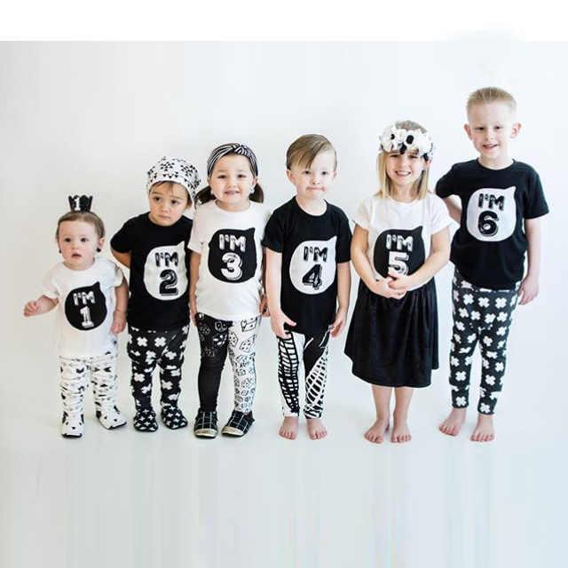 ชาย T เสื้อวันเกิดอายุพิมพ์เด็กหญิง Tee Tops 100% ผ้าฝ้ายเด็กเสื้อผ้าชายเสื้อยืดฤดูร้อนเสื้อผ้า 1-6Y