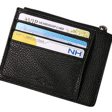 Mens Wallet Slim Credit Card Holder Mini ID Case Purse Bag Pouch Black Homme Business card bag #YL10