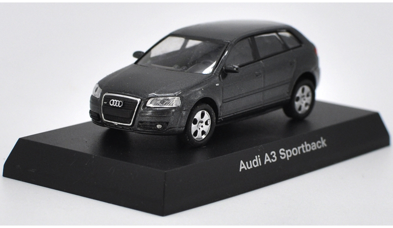 1:64 Diecast Model for Audi A3 SPORTBACK GRAY Alloy Toy Car Miniature Gifts