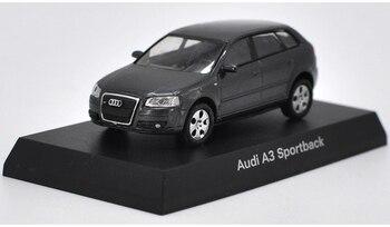 1 64 литая под давлением модель для Audi A3 SPORTBACK, серый сплав, игрушечный автомобиль, миниатюрные подарки