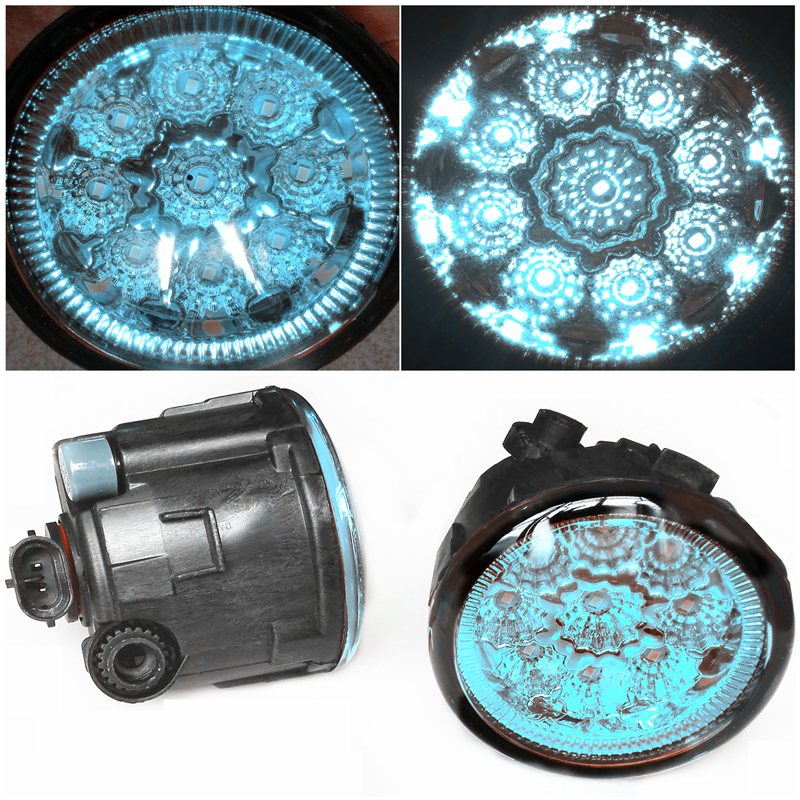 For Infiniti FX35  2006-2012 Car-Styling Led Light-Emitting Diodes DRL Fog Lamps Blue Glass for nissan x trail t30 2001 2006 car styling led light emitting diodes drl fog lamps