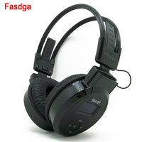 Headphone MP3 Player On Ear Foldable LCD Headset 3.5mm Wired Earphone with FM Radio TF Card Sports MP3 Music Players