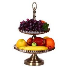 Высококачественные большие двухслойные Стеклянные тарелки для фруктов Европейское стекло змея диск блюдо украшение дома аксессуары современный