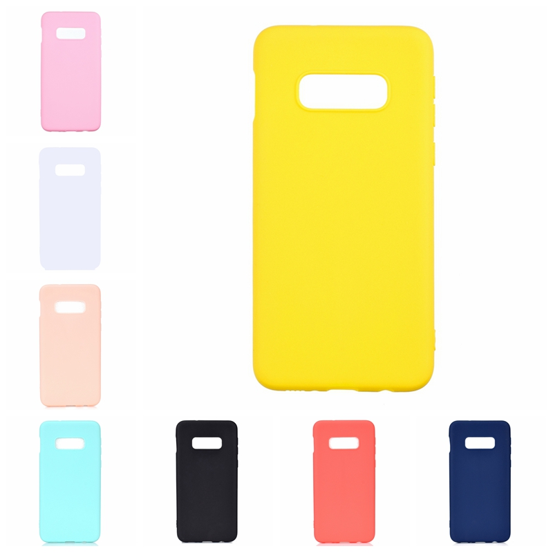 Candy Color Phone Case For Coque <font><b>Samsung</b></font> Galaxy S10e Soft Silicon TPU Back Cover For Etui <font><b>Samsung</b></font> S10e S <font><b>10e</b></font> e10S Back Cover image