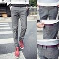 Korean Pants Men Plaid Print  pantalon homme New 2016 Autumn WinterTrousers Good Quality