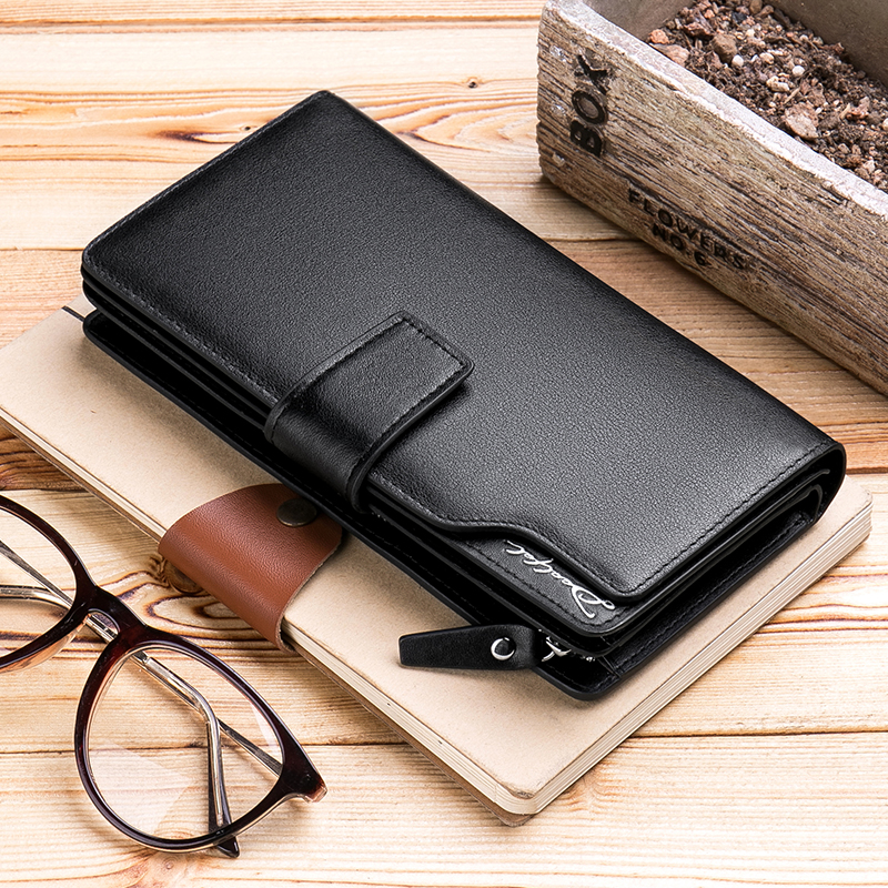 2018 Luxury Brand Men Wallets Long Male Clutch Bag Genuine Leather Zipper Wallet Men Business Male Coin Wallet For Credit Cards high quality leather men s clutch wallets wholesale leather clutch bag zipper coin bag men big wallet wholesale drop shipping