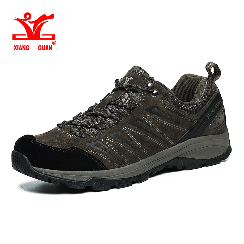 Xiang Guan Men Hiking Shoes Breathable Outdoor Sport Shoe Trekking Sneakers Mountain Climbing Shoes Anti-slip Walking Footwear humtto new hiking shoes men outdoor mountain climbing trekking shoes fur strong grip rubber sole male sneakers plus size