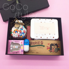 Cocostyles creative sweet romantic gift box with love promis
