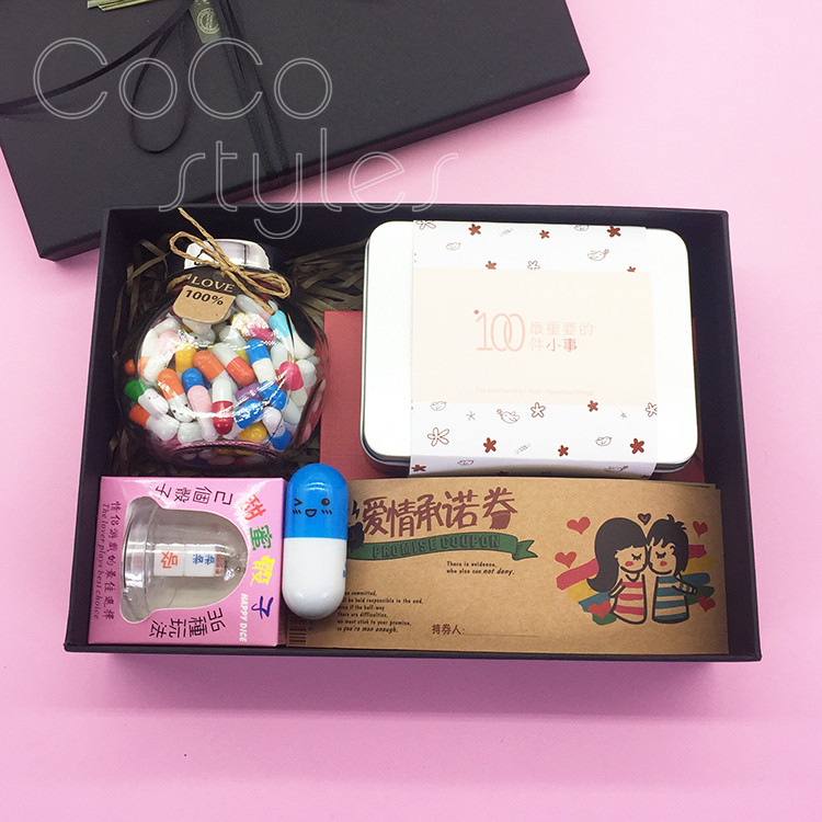 Cocostyles creative sweet romantic gift box with love promise voucher boyfriend girlfriend gift set valentine birthday present