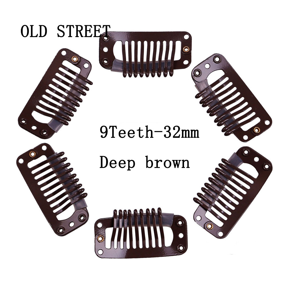 5pcs/lot Hair Snap Clips For Hair Extensions Accessories Salon Hair Clip Styling tools For Hairpins 9 Teeth 32mm