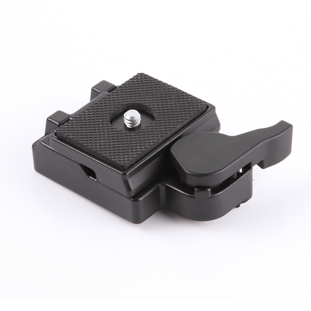 Placa de liberación rápida y adaptador de abrazadera para tripode Manfrotto monopod 200PL 14, cámara 323 RC2
