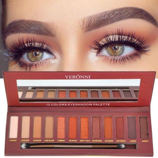 Najnowsze Kobiety Matte Shimmer Eyeshadow Paleta 12 Kolorów
