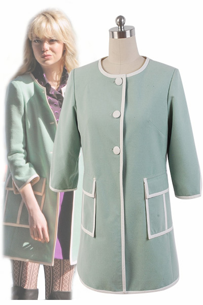 The Amazing Spider-Man 2 Gwen Stacy Green Coat Costume Cosplay For Adult
