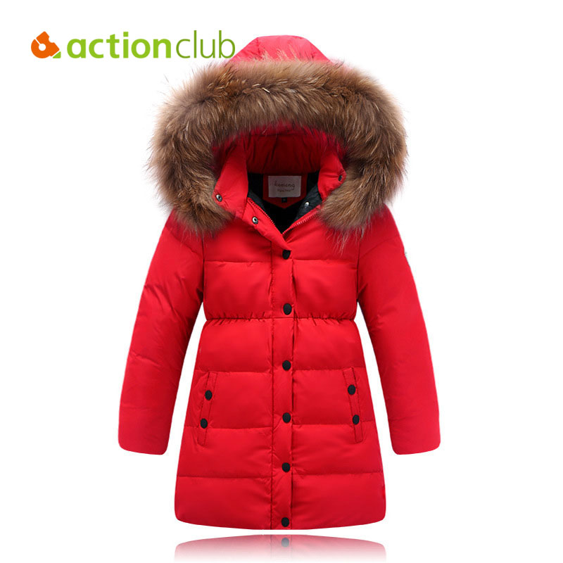 CR Winter Girl Overcoat Warm Hooded Solid Coat Children Casual Outerwear Jacket Coat Kids Girls Outer Wear Fashion Down Jackets