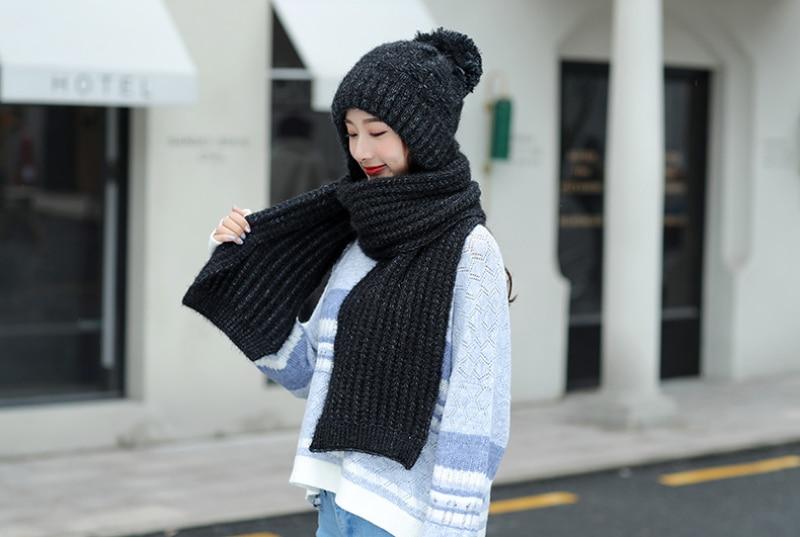 Ensemble écharpe chapeau d'hiver chaud