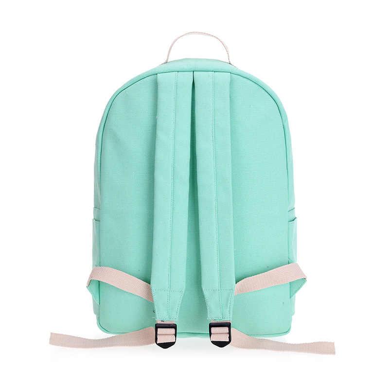 Розовый Кот женские рюкзаки для подростков школьная сумка для девочек 4 шт./компл. подростков студентов рюкзак Япония корейский Книга сумка Горячая