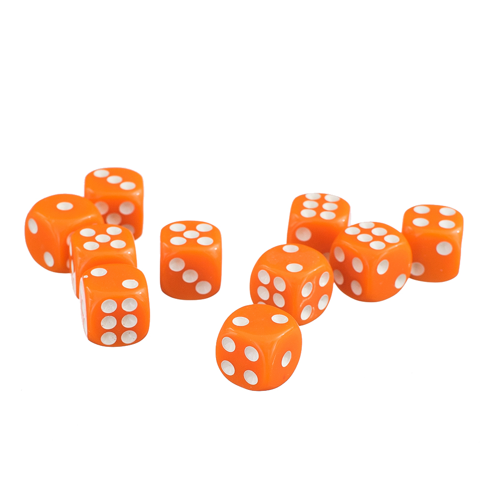 50x Opaque 12mm Six Sided Spot Dice D6 9 Colours for D/&D RPG Role Play Games