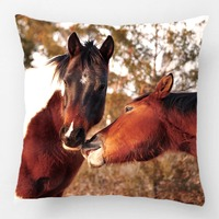 Cute Horse Throw Pillow Wedding Decorative Cushion Cover Pillow Case Customize Gift By Lvsure For Car Sofa Seat Pillowcase