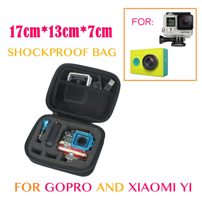 Go pro Accessories Portable Small Storage Camera Bag Case for Xiaomi yi Gopro Hero 5 4 3+ Action Camera SJ4000 SJ5000