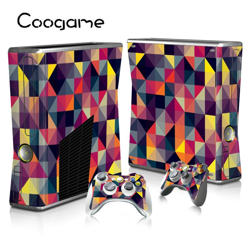 15 Classic Styles Funny Skins For Microsoft Xbox 360 Slim Console & 2 Controller Pads For Xbox 260 Slim Games
